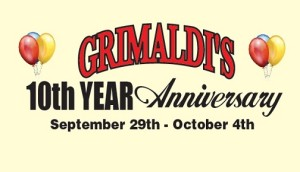 Grimaldis 10th Anniversary Facebook